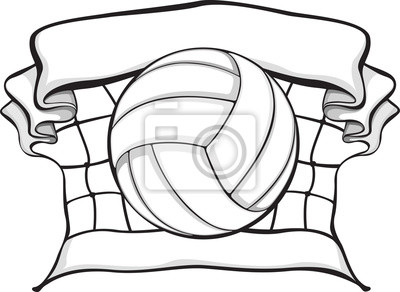 Volleyball in Folded Net