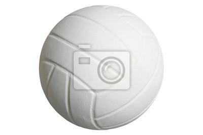 Volleyball isoliert auf einem weißen Hintergrund mit Clipping-Pfad