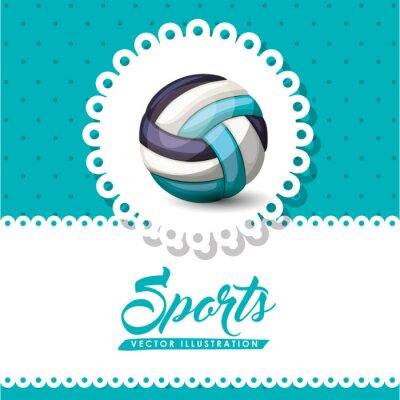Fototapete Volleyball-Ligaentwurf