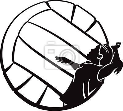 Volleyball Mädchen Spiking
