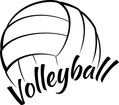 Volleyball mit Spaßtext