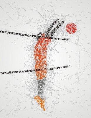 Fototapete Volleyball-Spieler