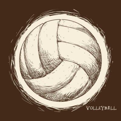 Fototapete Volleyball-Symbol-Design