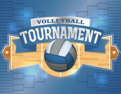 Volleyball Tournament Design Poster Illustration