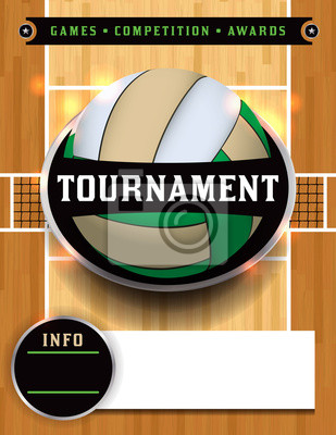 Volleyball Tournament Poster Illustration