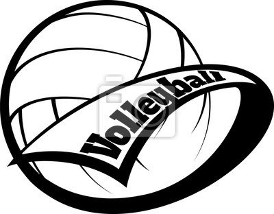 Volleyball Wimpel mit Font