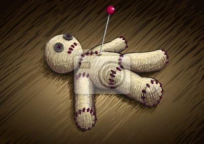 Voodoo-Puppe Handzeichnung Vektor-Illustration.