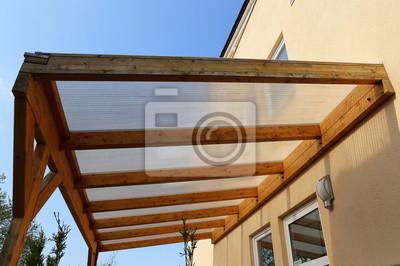 Vordach Aus Holz Fototapete Fototapeten Haustur Eintrag Veranda