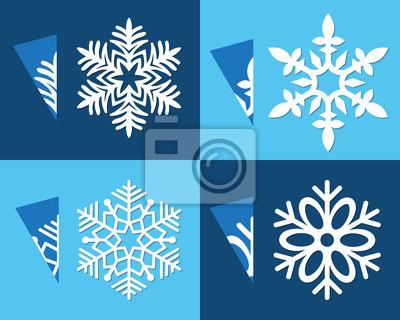 Gut bekannt Vorlage ausgeschnitten papier schneeflocke für schneiden manuell FV74