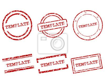 Stempel Muster In Blau Stock Vector Adobe Stock