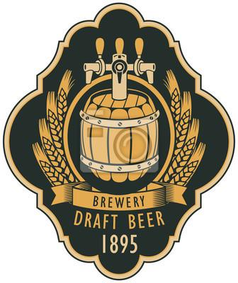 Drei Vektor Bier Etiketten Im Retro Stil 7
