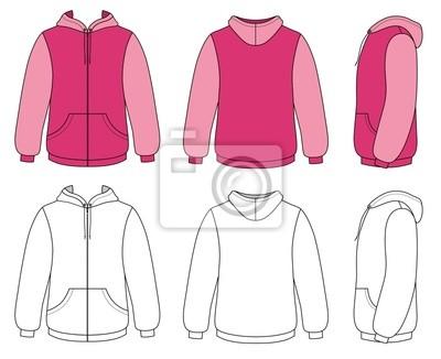Vorlage vektor-illustration einer leeren hoodie fototapete ...