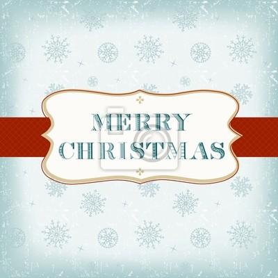 Vorlage Weihnachtskarte Mit Label Auf Nahtlose Muster Fototapete