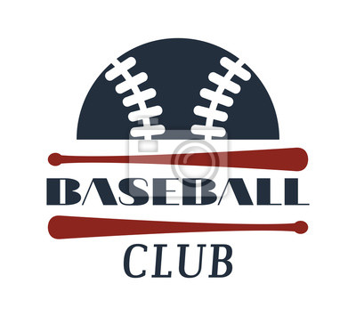 Vorlagen-logo für baseball-team mit sport-zeichen und symbole ...