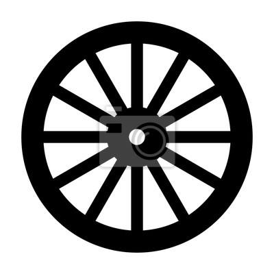 Wagenrad-schattenbild