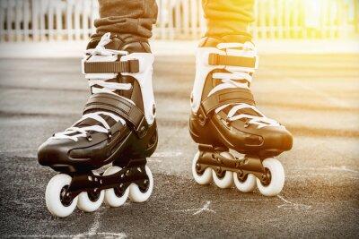 Fototapete walk on roller skates for skating