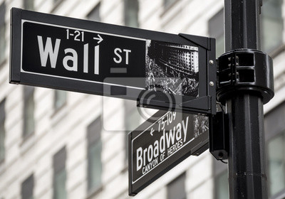 Fototapete Wall Street unterzeichnen in New York City, USA.