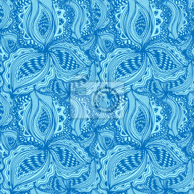 Wallpaper seamless pattern with abstract floral element