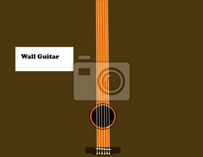 Wand Gitarre