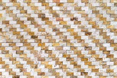 Fototapete Wand Mit Gelben, Braunen Und Weißen Steinfliesen, Hintergrund,  Textur