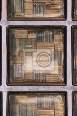 Wand mit glasbausteinen fototapete • fototapeten Baustoff, Fassade ...