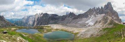 Fototapete Wanderung im Tre Cime Nationalpark, Dolomiten