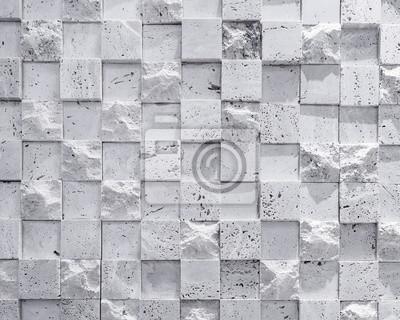 Wandfliesen kubische stein muster textur hintergrund schwarz ...