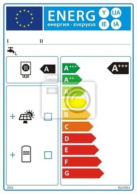 Warmwasserbereiter und solargerät neue energie rating-diagramm ...