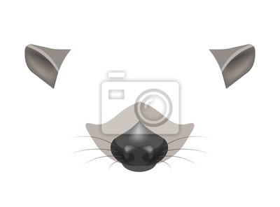 Waschbar Maskenvorlage Basteln Mit Papier 10