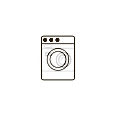 Waschmaschine Symbol Zeichen Design Fototapete Fototapeten