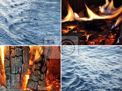 Wasser Feuer Fototapete Fototapeten Aldehyd Kraft Der Natur