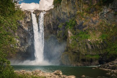 Wasserfall in Seattle Bereich