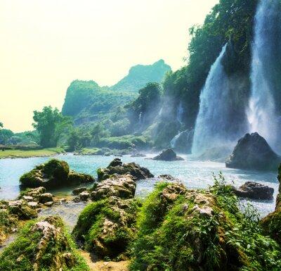 Fototapete Wasserfall in Vietnam