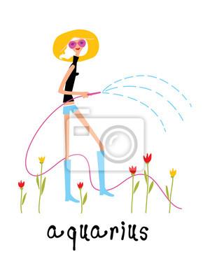 Wassermann frau horoskop zeichen als dame bewässerung tulpen ...