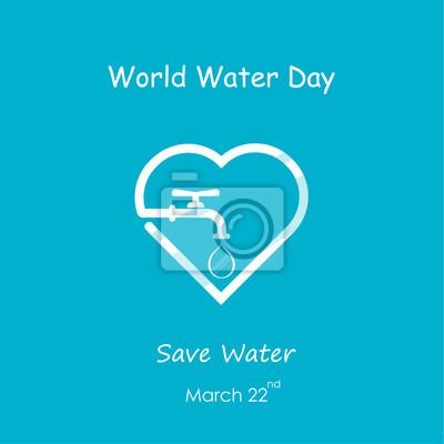 Wassertropfen Und Wasserhahn Ikone Mit Herzform Vektor Logo Design