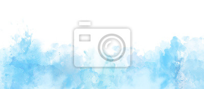 Fototapete Watercolor border isolated on white, artistic background