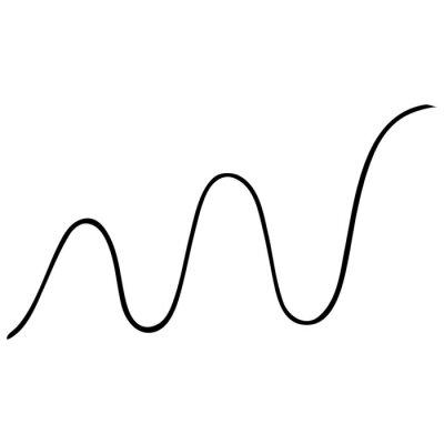 Wave. Harmonic oscillation. Business. Mathematics. Mechanics. Extremum. Analysis. Vector illustration. Contour on an isolated white background. Doodle style. Sketch. Illustration for web design.