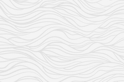 Fototapete Wavy background. Hand drawn waves. Stripe texture with many lines. Waved pattern. Line art. Black and white illustration