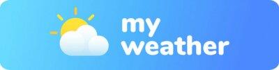 Fototapete Weather app logo