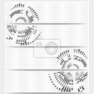 Web banner satz von header-layout-vorlagen, kreis halbton fototapete ...