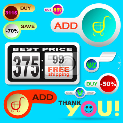 Web-Elemente für Online-Shopping