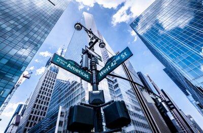 Fototapete Wegweiser in New York
