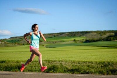 Fototapete Weibliche Athleten Training im Freien.