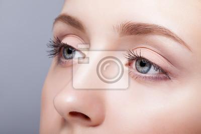 Fototapete Weibliche Augenzone und Brauen mit Tagesverfassung