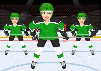 Fototapete Weibliche Eishockeymannschaft