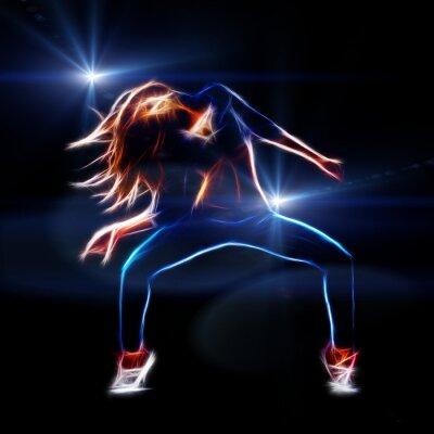 Fototapete Weibliche Hip-Hop-Tänzer