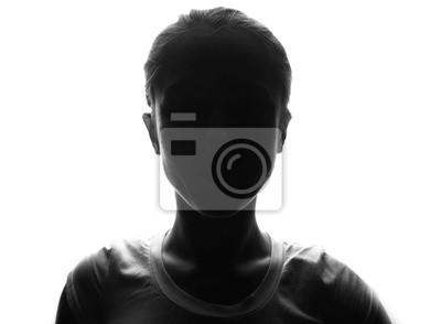 Fototapete Weibliche Person Silhouette