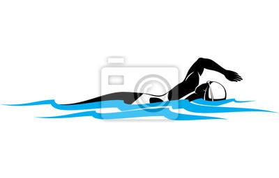 Weiblicher Freestyle-Schwimmer