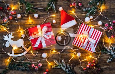 Weihnachten Geschenke Nikolaus Santa Fototapete Fototapeten