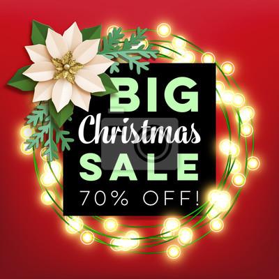 Weihnachtsstern Für Tannenbaum.Fototapete Weihnachten Großer Verkauf Poster Mit Weihnachtsstern Papier